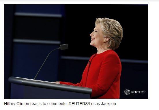 Với cả việc lắng nghe, trả lời, bà Hillary đều thể thiện thái độ vui vẻ, tự tin