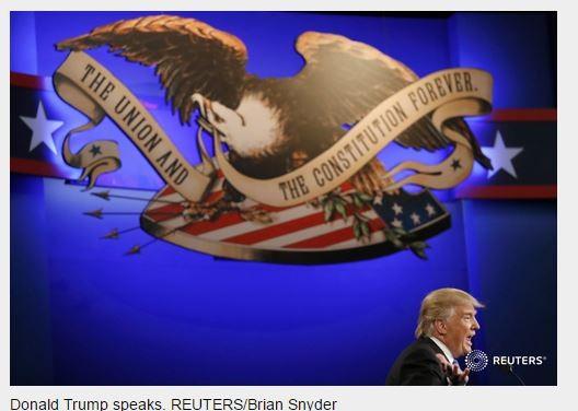Ông Donald Trump đang nói về các điểm yếu của đối thủ