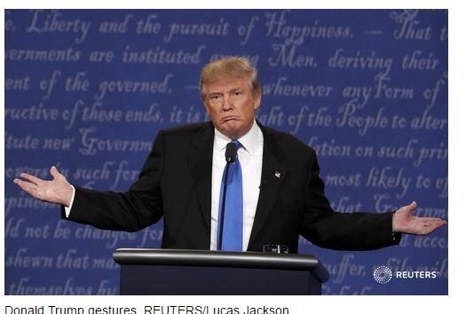 Ông Donald Trump tại cuộc tranh luận