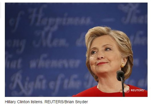 """""""Đấu khẩu"""" giữa Hillary Clinton và Donald Trump: Cơ hội làm Tổng thống Mỹ của ông Trump đã giảm ảnh 4"""
