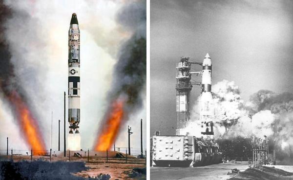 Thử nghiệm tên lửa đạn đạo có khả năng mang vũ khí hạt nhân của Mỹ trong quá khứ. (ảnh tư liệu)