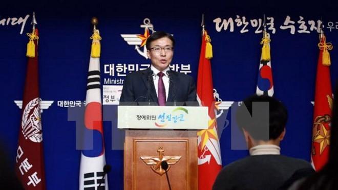 Người phát ngôn Bộ Quốc phòng Hàn Quốc Moon Sang-Gyun. (Nguồn: Koreaherald/ TTXVN)