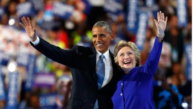 Ông Obama và bà Hillary Clinton.