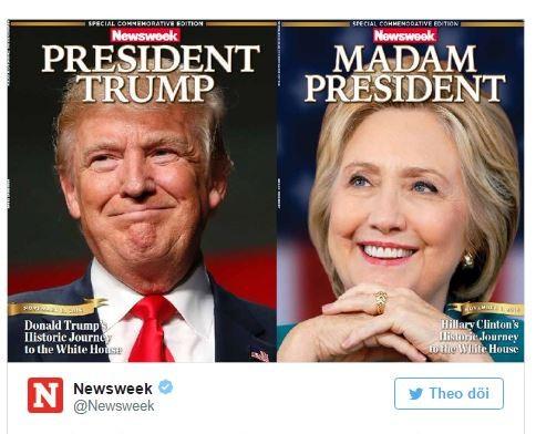 Hai phiên bản mà tạp chí Newsweek đã chuẩn bị sẵn.