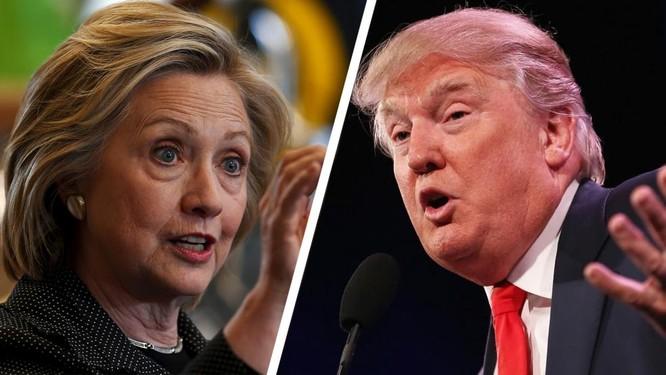Hai đối thủ của đảng Dân Chủ và đảng Cộng hòa Hillary Clinton - Donald Trump.