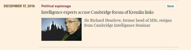 Chuyên gia tình báo Anh nghi diễn đàn của Đại học Cambridge có liên hệ với điệp viên Nga ảnh 1