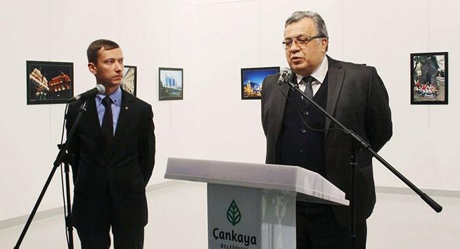 Đại sứ Nga trước thời điểm bị bắn.