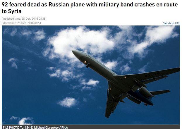 Truyền thông Nga e ngại rằng hơn 90 có mặt trên chuyến bay có thể đã chết hết.