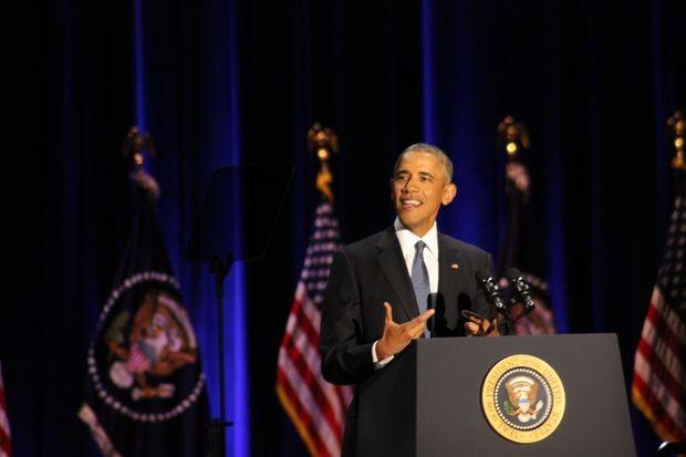 Tổng thống Obama tại Chicago.