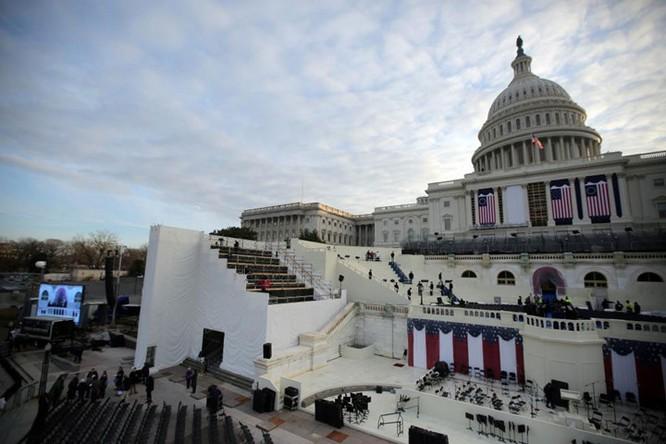 Đồi Capitol trong buổi diễn tập cho lễ nhậm chức chính thức của Tổng thống đắc cử Donald Trump ở Washington.