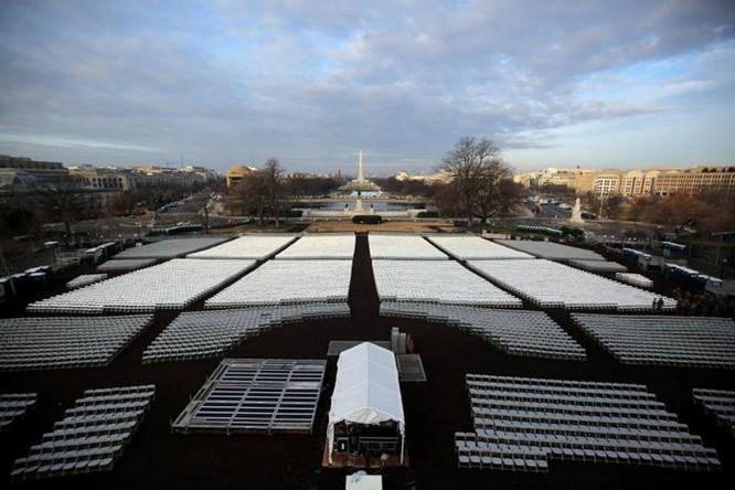 Quảng trường nơi sẽ diễn ra lễ nhậm chức tại Washington.
