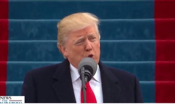 Trong bài diễn văn ngay sau đó ông Trump cảm ơn người dân Mỹ, nhắc tới Tổng thống Obama và các cựu tổng thống thế hệ trước.