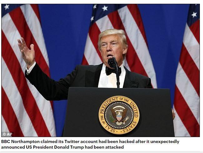 Tài khoản Twitter của BBC bị hack, post nội dung ông Trump bị bắn vào tay ảnh 1