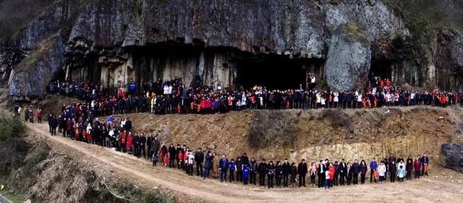 Đại gia đình 500 người, 7 thế hệ ở Trung Quốc phải dùng UAV để chụp ảnh ảnh 1