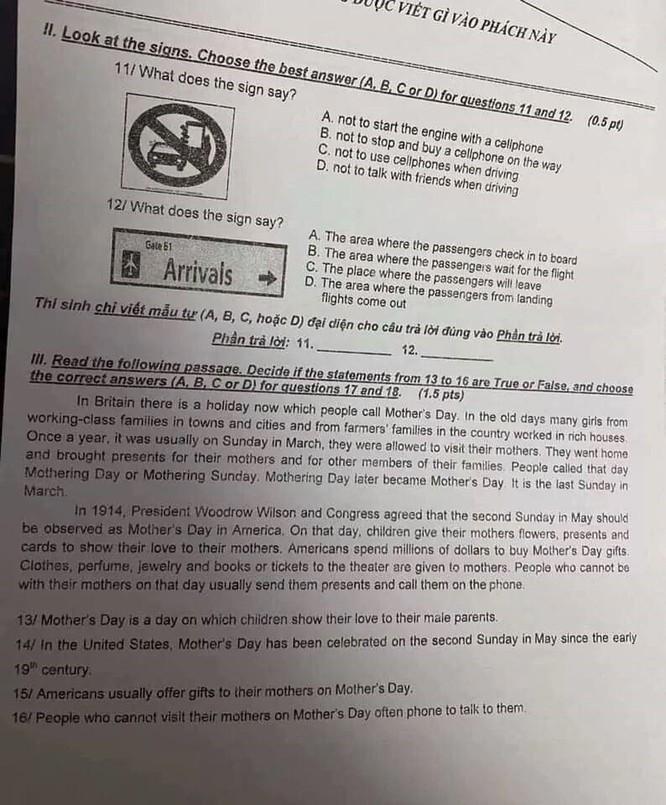 Tra cứu online đáp án đề thi tuyển sinh vào lớp 10 môn Anh của TP.HCM ảnh 2