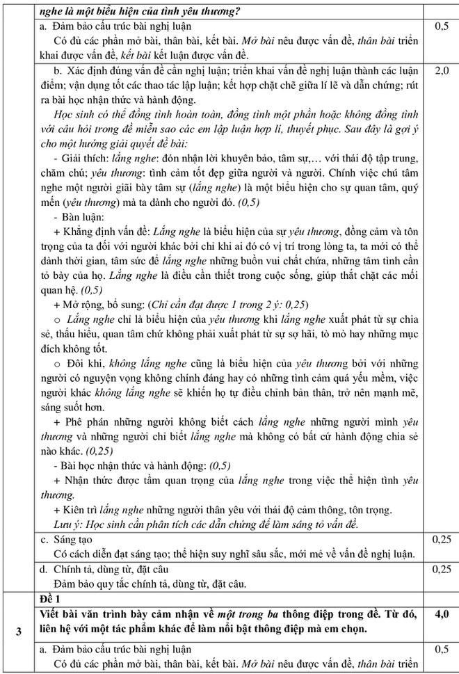 Tra cứu online đáp án đề thi tuyển sinh vào lớp 10 môn Văn của TP.HCM ảnh 8