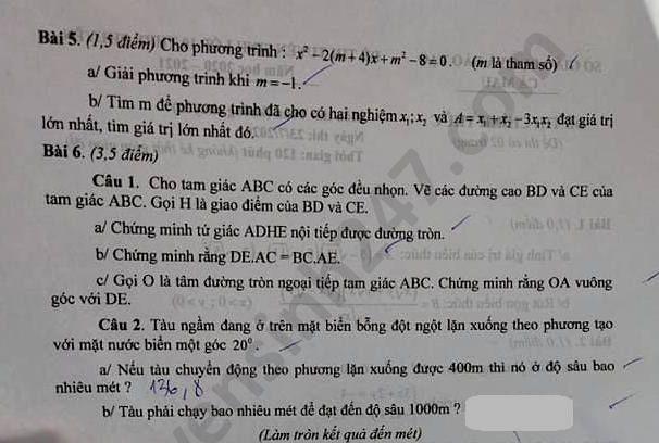 Tra cứu online đáp án đề thi tuyển sinh vào lớp 10 môn Toán tỉnh Cà Mau năm 2020 ảnh 2