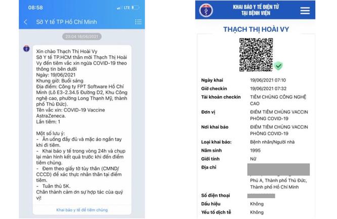 """TP.HCM: Người dân được """"nhắc"""" tiêm vaccine COVID-19 qua tin nhắn ảnh 1"""