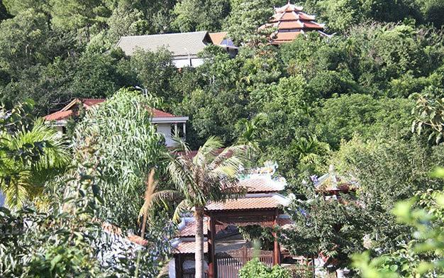 Một góc biệt thự xây trái phép của gia đình thiếu tướng Phan Như Thạch