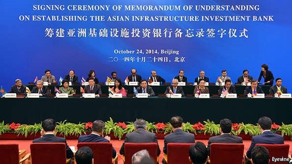 Năm 2014, 21 quốc gia đã ký vào thỏa thuận thành lập ngân hàng trị giá 100 tỷ USD