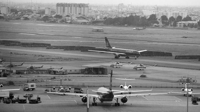 Khu vực dự kiến thi công mở rộng đường lăn và bãi đậu máy bay của sân bay Tân Sơn Nhất
