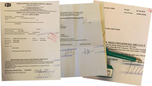 Các giấy tờ có bút tích của Tuấn