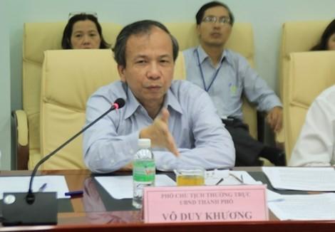 ng Võ Duy Khương (phó Chủ tịch thường trực UBND TP Đà Nẵng) tại cuộc họp với Đoàn Ủy ban kinh tế - ngân sách của Quốc hội.