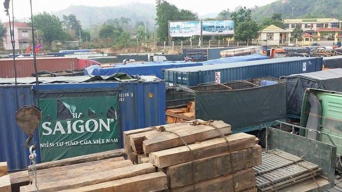 Hàng trăm xe gỗ ùn ứ ở Cửa khẩu Quốc tế Lao Bảo ảnh 3