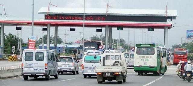 Thu phí tại trạm T3 (thuộc xã Tân Hải, huyện Tân Thành, tỉnh Bà Rịa - Vũng Tàu) của dự án mở rộng BOT quốc lộ 51 do BVEC làm chủ đầu tư