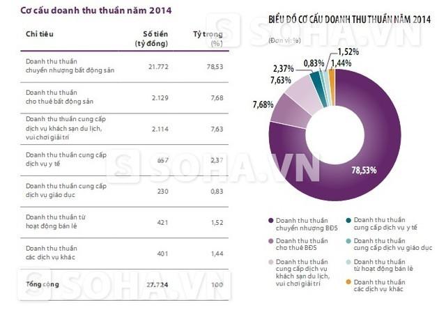 Cơ cấu doanh thu thuần năm 2014