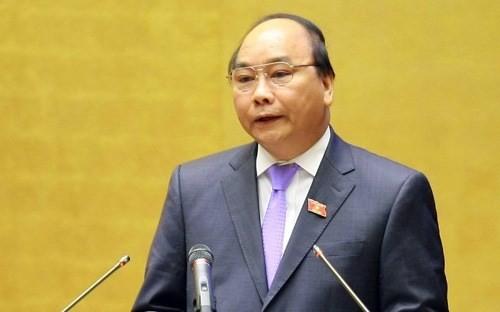 Phó thủ tướng Nguyễn Xuân Phúc tại nghị trường sáng 13/6.