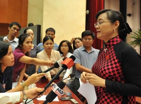Đại biểu Nguyễn Thị Quyết Tâm (đoàn TPHCM).