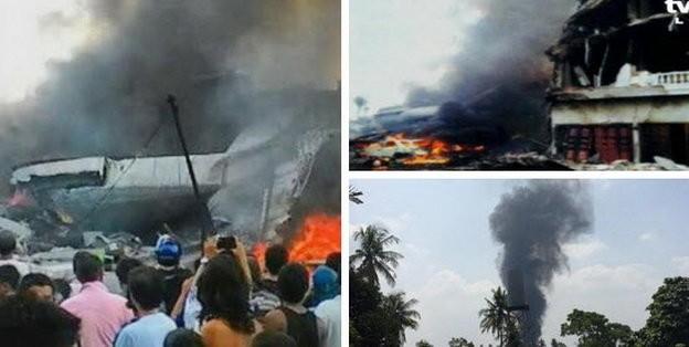 Máy bay Indonesia rơi trúng khách sạn, ít nhất 30 người chết ảnh 6