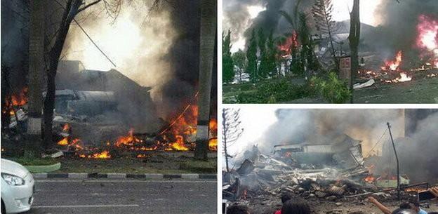 Máy bay Indonesia rơi trúng khách sạn, ít nhất 30 người chết ảnh 4