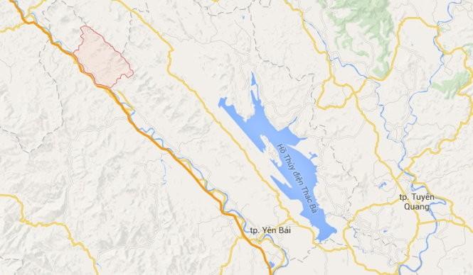 Vị trí xã Lâm Giang, huyện Văn Yên, tỉnh Yên Bái