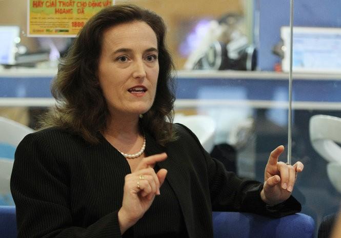 Bà Tiffany Murphy - trưởng phòng lãnh sự Đại sứ quán Mỹ tại Việt Nam