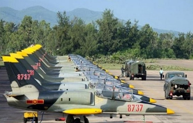 Máy bay huấn luyện phản lực L-39 của Việt Nam tại Trung đoàn Không quân 910.