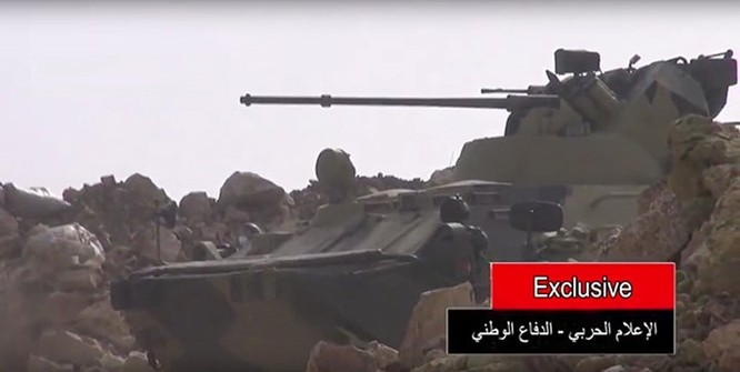 Xe bọc thép BTR-82A của Nga đến Syria ảnh 2