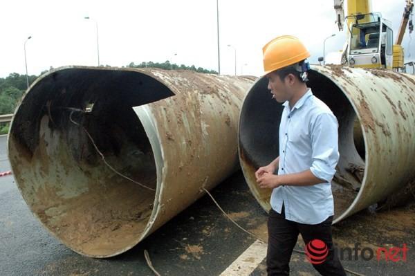 Cận cảnh đoạn vỡ đường ống dẫn nước sạch Sông Đà lần thứ 15 ảnh 1