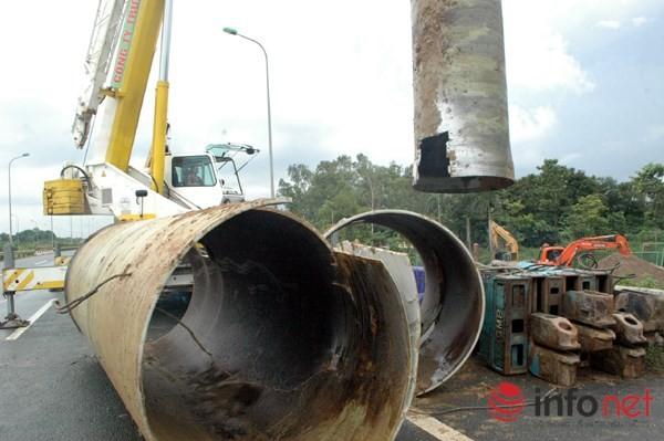 Cận cảnh đoạn vỡ đường ống dẫn nước sạch Sông Đà lần thứ 15 ảnh 2