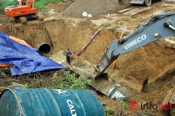 Cận cảnh đoạn vỡ đường ống dẫn nước sạch Sông Đà lần thứ 15 ảnh 7