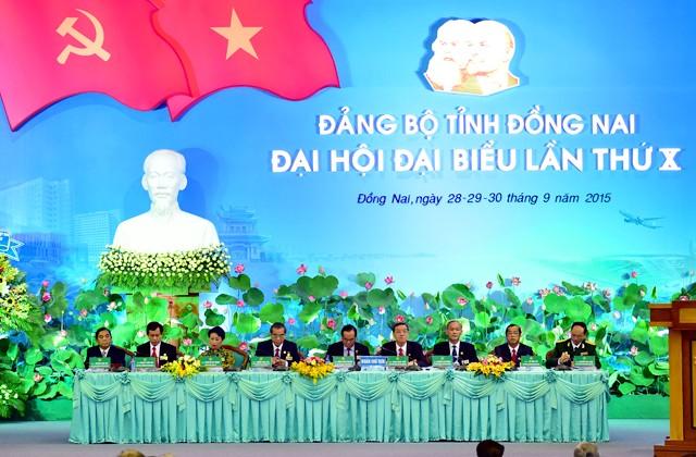 Thủ tướng Nguyễn Tấn Dũng dự Đại hội Đảng bộ tỉnh Đồng Nai ảnh 1