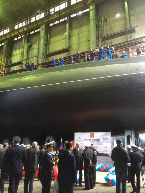 Chùm ảnh lễ hạ thuỷ chiếc tàu ngầm Kilo cuối cùng của Việt Nam ảnh 4