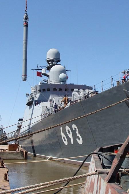 Clip trên tàu chiến lớp Gepard phóng tên lửa Klub diệt IS ở Syria ảnh 3
