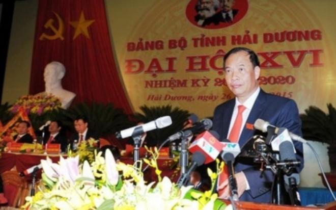 Ông Nguyễn Mạnh Hiển, tân Bí thư Tỉnh ủy Hải Dương. (Ảnh: Báo Hải Dương)