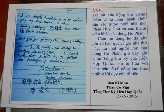 Ông Ban Ki-moon về Việt Nam nhận là con cháu họ Phan? ảnh 4