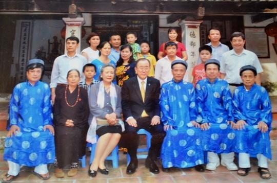 Ông Ban Ki-moon về Việt Nam nhận là con cháu họ Phan? ảnh 2