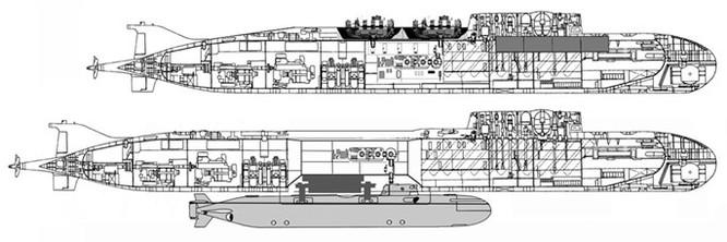 Rò rỉ hình ảnh 2 loại tàu ngầm hạt nhân mới nhất của Nga ảnh 1