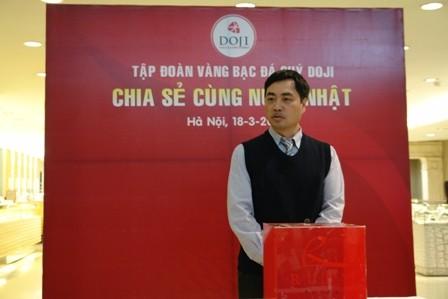 Ông Dương Anh Tuấn - Phó tổng giám đốc phụ trách kỹ thuật -Tập đoàn Vàng bạc Đá quý DOJI