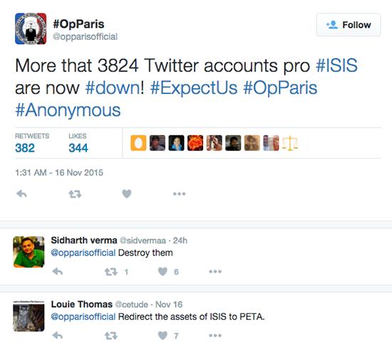 """Anonymous """"điểm mặt"""" 3.824 tài khoản Twitter của tổ chức Hồi giáo IS ảnh 1"""